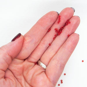 11/0 Seed Beads_Miyuki #11_Silverlined Ruby Red