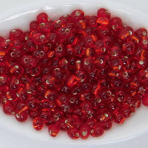 Miyuki Drop Beads_3.4mm_Silver Lined Christmas Red
