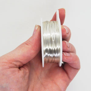 24 gauge Non Tarnish Silver Wire_200 feet_Dead Soft_Jewelry Design_Wirework Supplies_Made in the USA