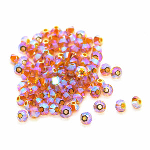50 or 100 Beads) 3mm Swarovski Bicones_Topaz 2xAB_Article #5328_Jewelry Design_Rainbow Topaz_Double AB_