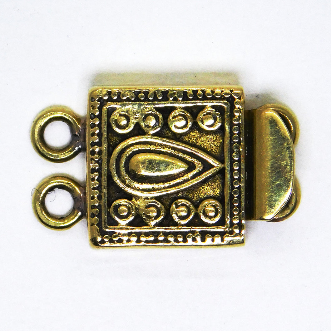 Two Strand Paisley Box Clasp_22x14mm_Solid Brass