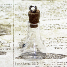 Mini Clear Glass Erlenmeyer Flask Pendants_Vials_Bottles