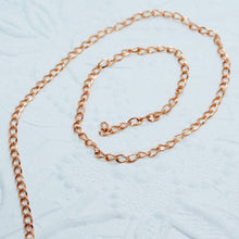 14K Rose Goldfilled Curb Chain_4x2mm_by the foot