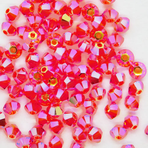 3mm Swarovski Bicones_Hyacinth 2xAB_Article #5328