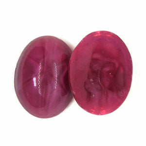 20x15mm_Ruby Glass Star Cabochon_Article 1755