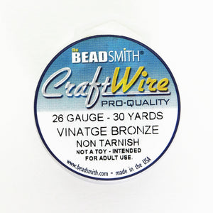 26 gauge Vintage Bronze Wire_30 yards_Dead Soft_Beadsmith Wire_Wirework Supplies_Steampunk Jewelry_Jewelry Design