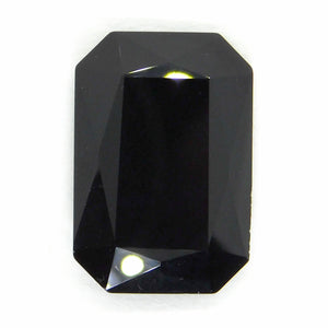 Swarovski Crystal Fancy Rectangle #4627_Jet Black_27x18.5mm_Black Crystal_Faceted Stone_Jewelry Design_Black Tie Wedding