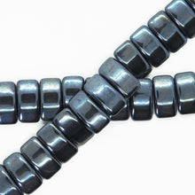Glass Carrier Beads_9x17mm_Gunmetal_Two Hole_15 Beads_Czech Glass Beads_Jewelry Design_