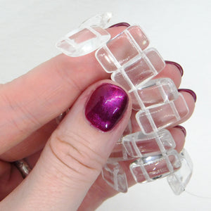 Glass Carrier Beads_9x17mm_Crystal Clear