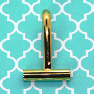 Horizontal Pin to Pendant Converter Bails_21x13mm_Gold Plate