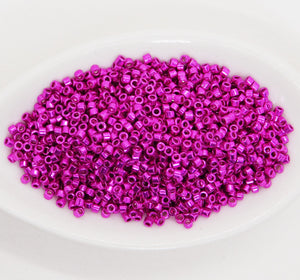 11/0 Delica Beads #422_Galvanized Fuchsia_7 grams