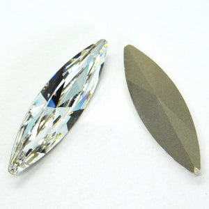 1) 35x9.5mm_Swarovski Crystal #4200_Big Navette Marquis Cut