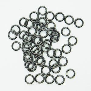 6mm 18 gauge Open Jumprings_Gunmetal Gray_50 pieces_Jewelry Design_Chainmail