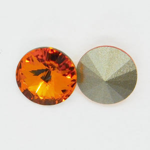 39ss or 8mm Swarovski Crystal Rivolis_Tangerine Orange_4 pieces