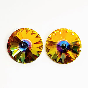 9th Anniversary SALE 18mm Swarovski Rivoli_Quasar_New Color