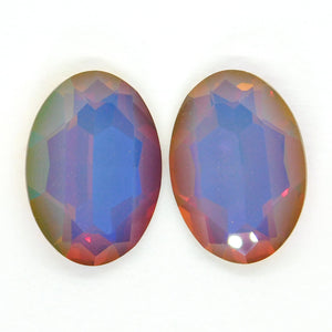 30x22mm Swarovski Fancy Oval Stone_#4127_White Opal Volcano_Aftermarket_Special Production