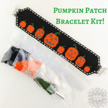 Pumpkin Patch Bracelet Kit_Peyote Stitch_Jack O'Lantern