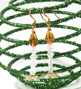 KIT_Christmas Candle Earring Kit_Swarovski Crystal