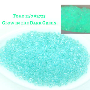 11/0 Glow in the Dark_Japanese Seed Beads_Toho #2723