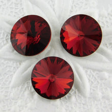 12mm or 14mm Swarovski Crystal Rivolis_Scarlet Red_New Color
