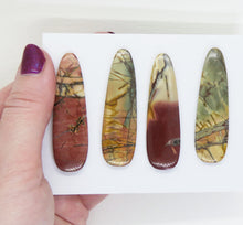 54X16mm Red Creek Jasper Long Teardrop Cabs_Set 2