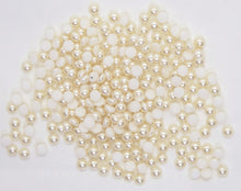 50) 3mm Cream Pearl Cabochons_Preciosa_Czech Glass