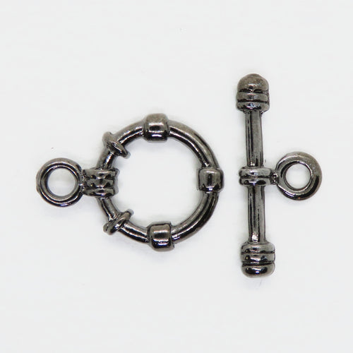 20mm Gunmetal Toggle Clasp with Banding_Designer Quality