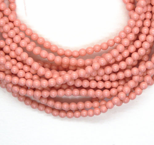 3mm or 4mm Swarovski Crystal Pearls * Pink Coral_50 or 100 Beads_Article #5810_Jewelry Design