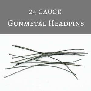 2 inch 22 or 24 gauge Headpins_Gunmetal_20 pieces