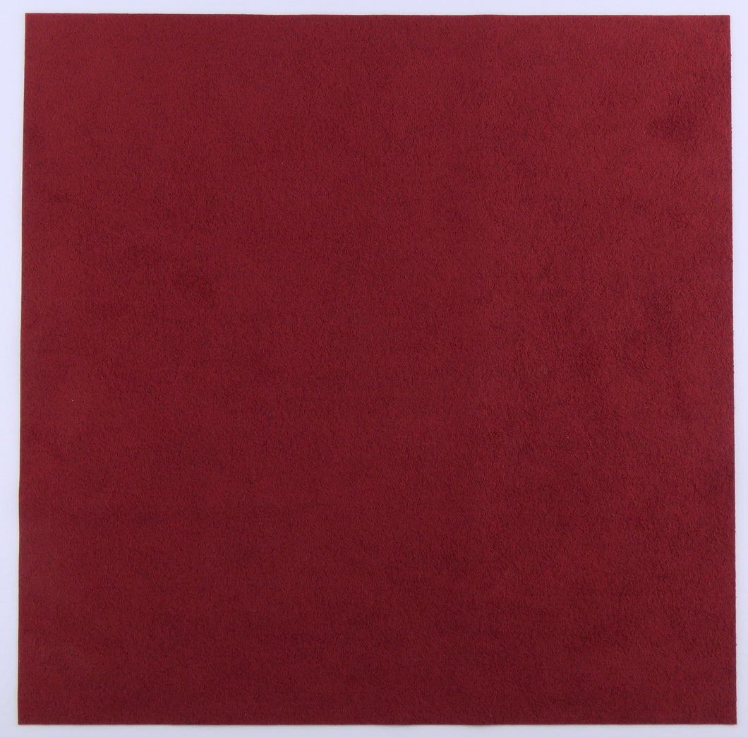 Colonial Red Ultrasuede Light Fabric_8.5x8.5 square_Bead Embroidery