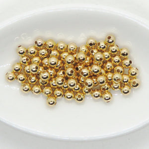 3mm Gold Plated Ball Beads_50 beads_Round Spacers