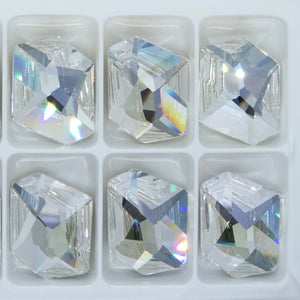 1) Discontinued Swarovski Crystal Cosmic Stone_Crystal Moonlight_28x24mm