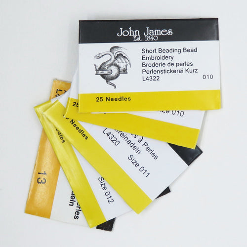 25 Piece Bulk Pack John James Beading Needles_Size 10 Short_Size 10