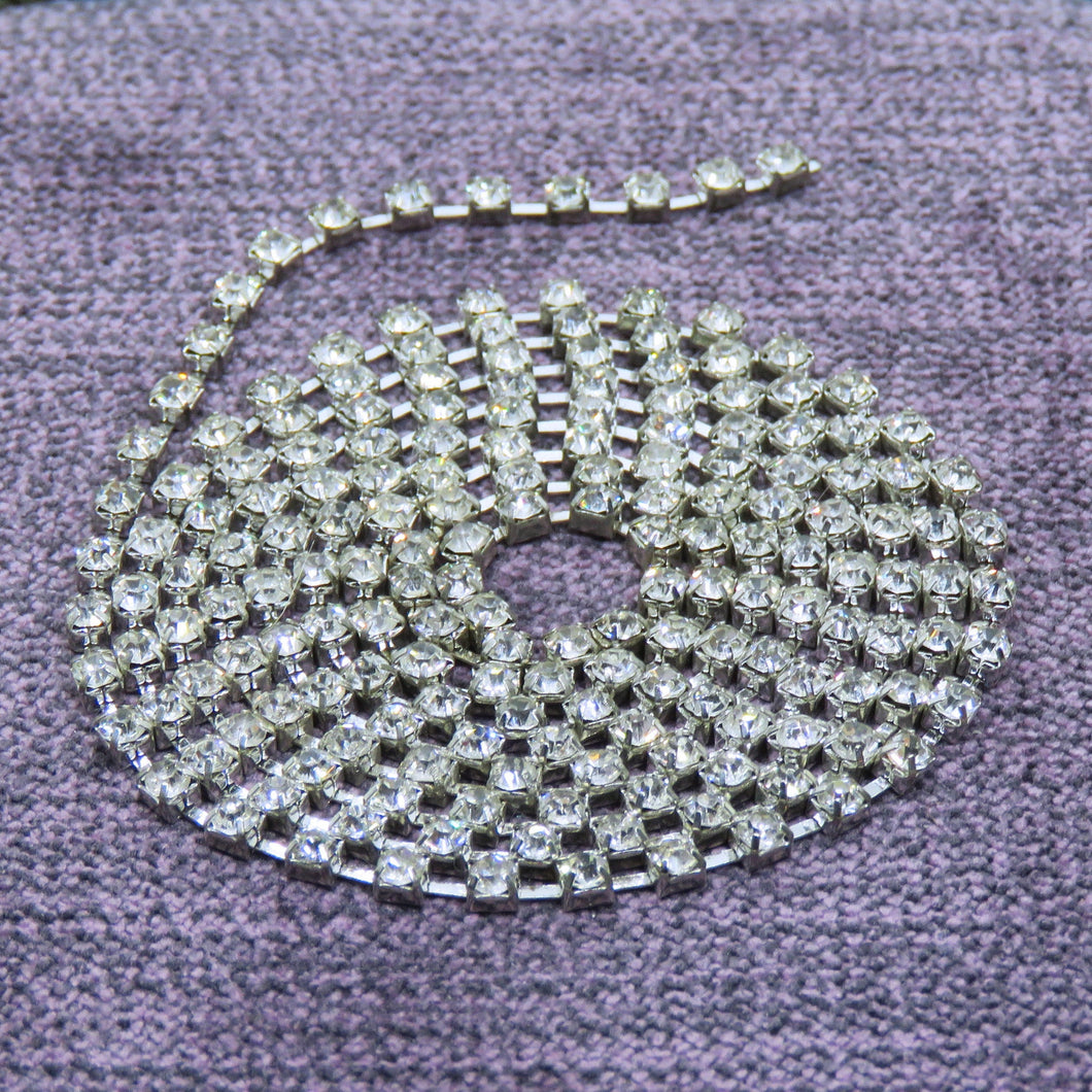 3 feet of SS10/2.8mm Rhinestone Chain_Crystal Clear Glass