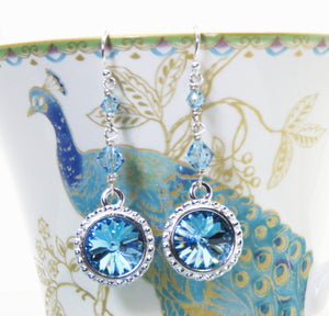 Swarovski Aquamarine Drop Earrings