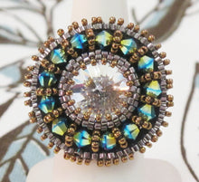 Swarovski Crystal Statement Ring_Beadwoven_Size 7 US **Sparkle for Nayna**