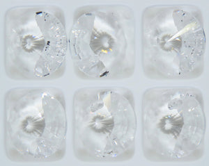 4) 10mm Preciosa Crystal Rivoli Pendants_Crystal Clear