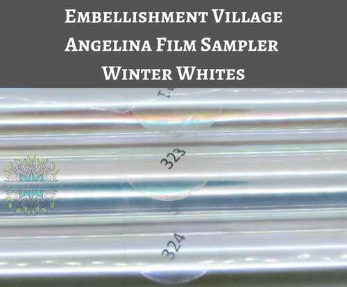 Angelina Film Samplers Winter Whites_4 inch wide by 3 feet long
