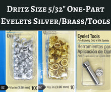 "100) Dritz 5/32"" One-Part Eyelets Silver/Brass or One Set of Eyelet Tools"