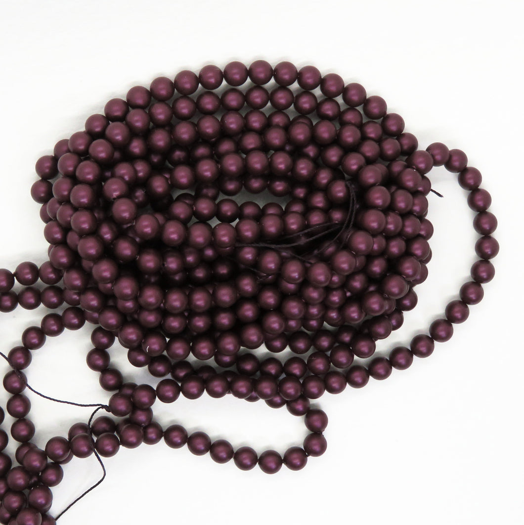 NEW! 50) 6mm Swarovski Crystal Pearls_Elderberry_Mulberry_Article #5810