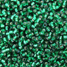 10 grams) 11/0 Delicas Silver Lined Dark Emerald Green_DB605