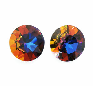27mm Round Swarovski Fancy Stone_Article #1201_Sahara_Volcano_Majestic Blue