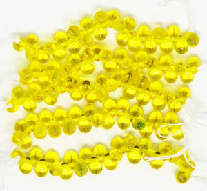 50) 4x6mm Drop Beads_Translucent Sunflower Yellow_Teardrops