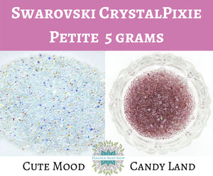 5 grams) Swarovski CrystalPixie Petite Nail Art Supply_Cute Mood_Candy Land