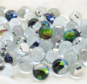 2 pieces) 12mm Preciosa Crystal 3/4 Flatback Smooth Ball Cabochons Vitrail Medium