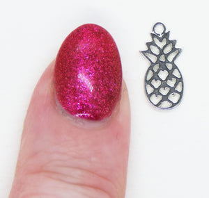 1) Amoracast Pineapple Charm_13.5x6.5mm_Sterling Silver_Tropical