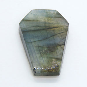 36.5x21.5mm Labradorite Coffin Cabochon