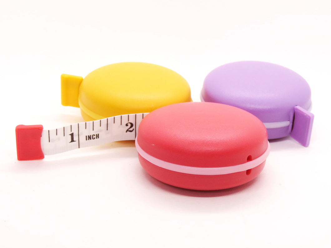 1) 5 foot Macaron Retractable Tape Measure_Orange_Purple