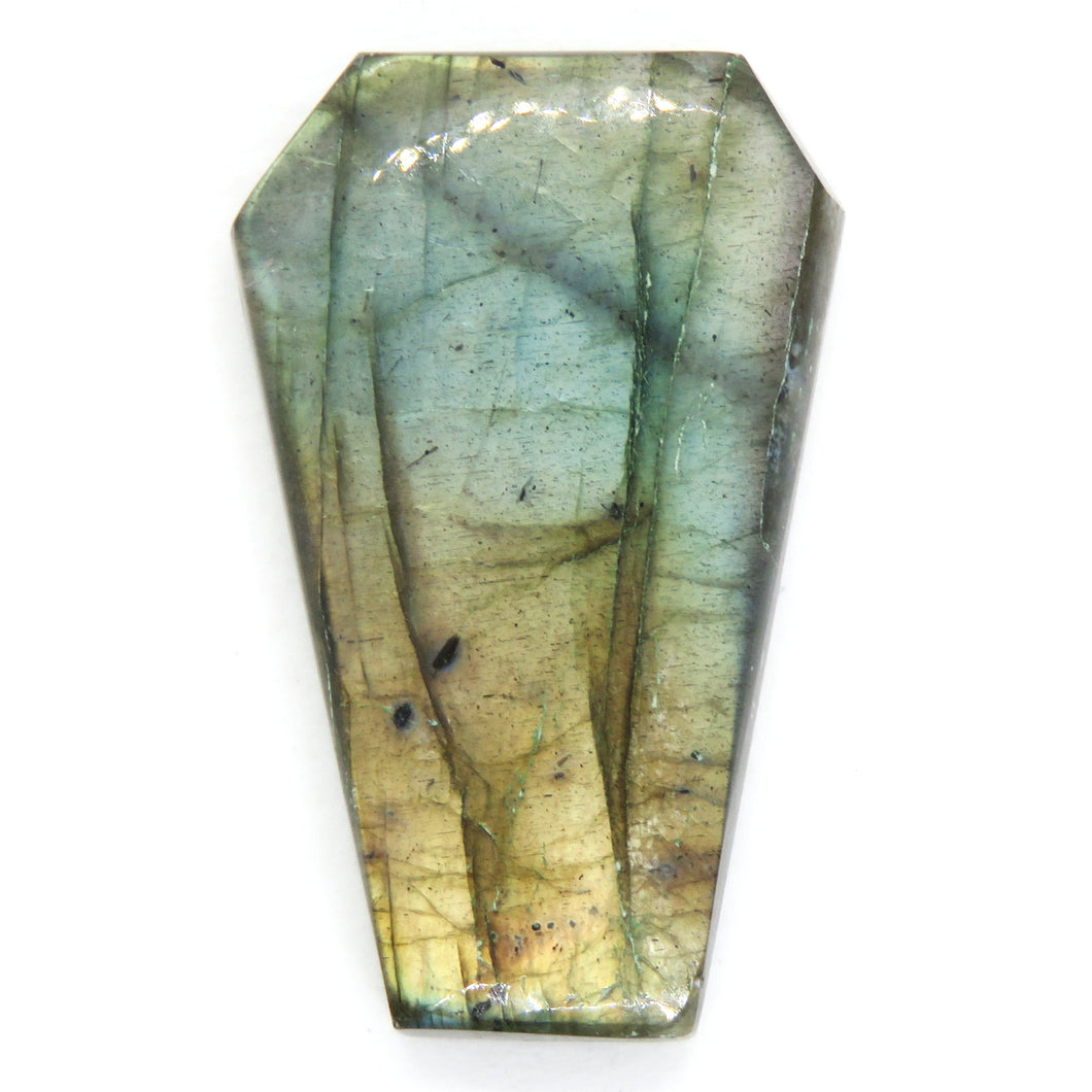 28x17.5mm Labradorite Coffin Cabochon