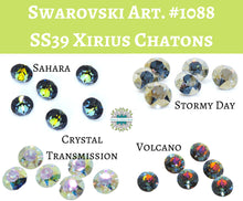 6) SS39 or 8mm Swarovski #1088 Crystal Xirius Chatons_Crystal Transmission_Sahara_Stormy Day